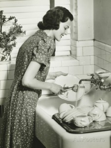 george-marks-woman-washing-dishes-at-kitchen-sink