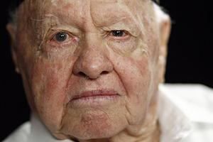 This is actually Mickey Rooney who died in 2014 at the age of 94.
